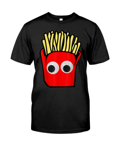 GOOGLY EYES FRENCH FRIES FUNNY CARTOON FOODIE T SH