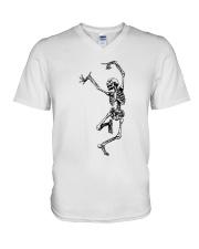 Funny Dance Skeleton T-Shirts V-Neck T-Shirt thumbnail
