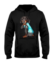 Dachshund I Love Mom Funny  Hooded Sweatshirt thumbnail