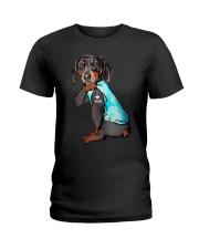 Dachshund I Love Mom Funny  Ladies T-Shirt thumbnail