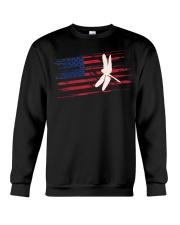 Dragonfly US American Flag Swar Crewneck Sweatshirt thumbnail