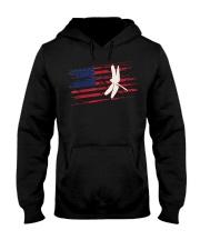 Dragonfly US American Flag Swar Hooded Sweatshirt thumbnail