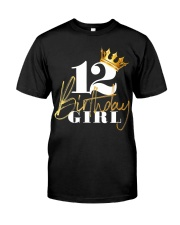 12th Birthday Girl Princess - 12 Classic T-Shirt thumbnail