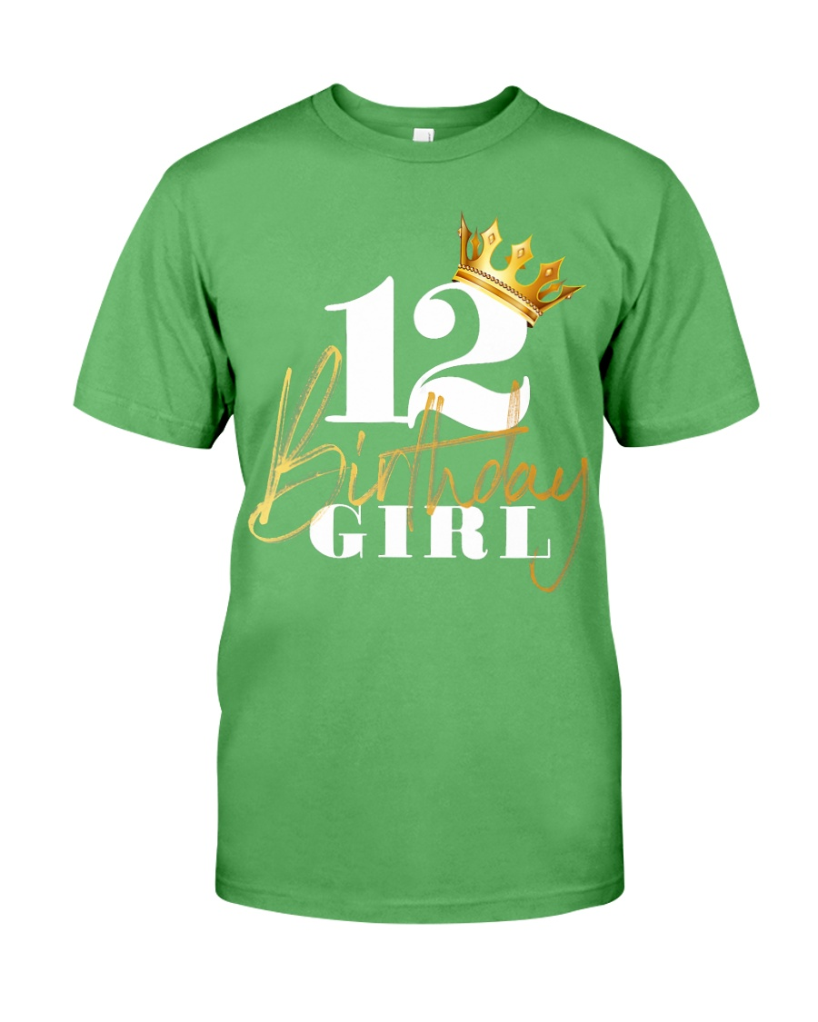 12th Birthday Girl Princess - 12 Premium Fit Mens Tee