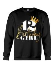 12th Birthday Girl Princess - 12 Crewneck Sweatshirt thumbnail