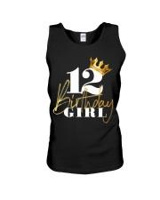 12th Birthday Girl Princess - 12 Unisex Tank thumbnail
