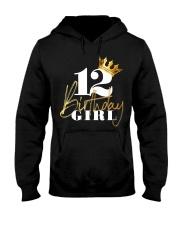 12th Birthday Girl Princess - 12 Hooded Sweatshirt thumbnail
