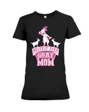 Bestest Ever Goat Mom MothersDay2016 Premium Fit Ladies Tee thumbnail