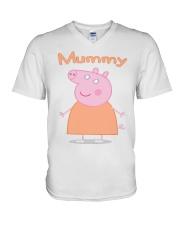 MUMMY PIG MOTHERS DAY 1 V-Neck T-Shirt thumbnail