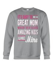 Great Mom Amazing Kids Mothers Day Gift Crewneck Sweatshirt thumbnail