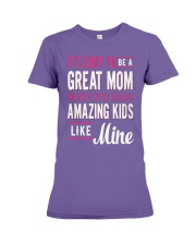 Great Mom Amazing Kids Mothers Day Gift Premium Fit Ladies Tee thumbnail