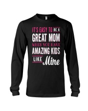 Great Mom Amazing Kids Mothers Day Gift Long Sleeve Tee thumbnail