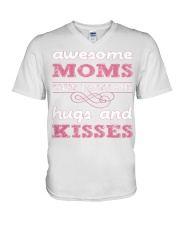 AWESOME MOMS GET LOTS HUGS MOTHERSDAY V-Neck T-Shirt thumbnail