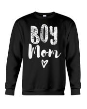 Boy Mom Heart Mothers Day Crewneck Sweatshirt thumbnail