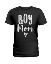 Boy Mom Heart Mothers Day Ladies T-Shirt thumbnail