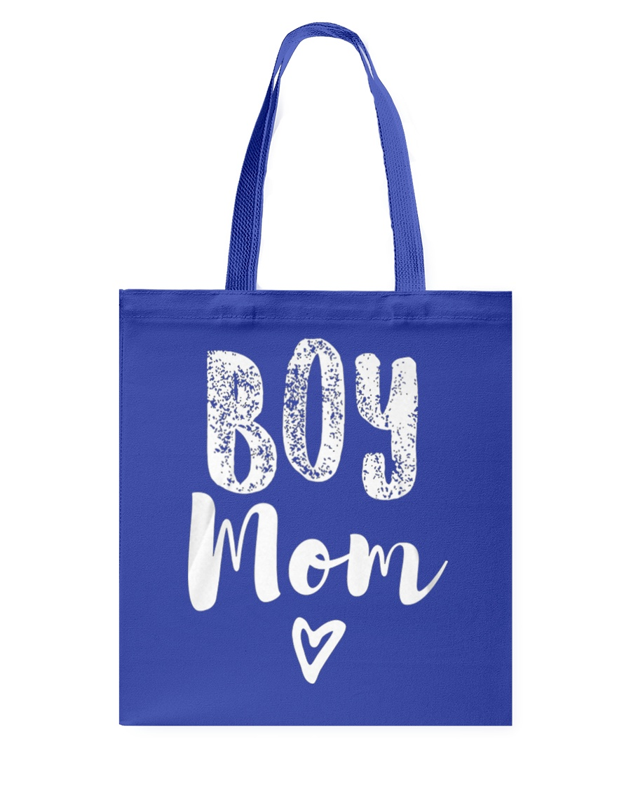 Boy Mom Heart Mothers Day Tote Bag