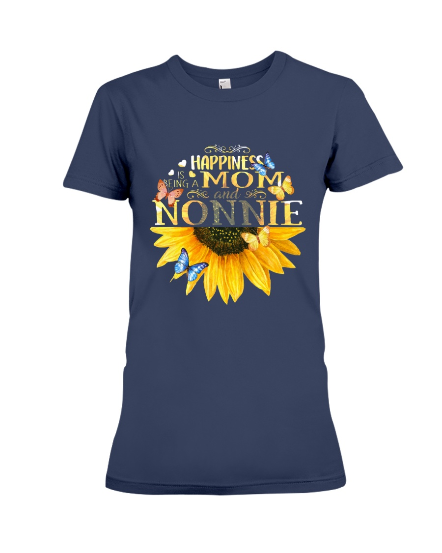 happiness mom nonnie t shirt Premium Fit Ladies Tee