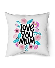 love you mum mother gift Indoor Pillow tile