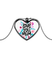 love you mum mother gift Metallic Heart Necklace thumbnail