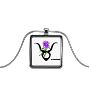 iris Taurus  Metallic Rectangle Necklace thumbnail