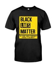 Black Lives Matter X Asian Greeks Classic T-Shirt front