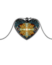 Mandala Metallic Heart Necklace thumbnail