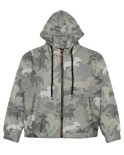 Camo Dachshund Women's All Over Print Full Zip Hoodie thumbnail