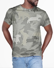 Camo Dachshund All-over T-Shirt aos-all-over-T-shirt-lifestyle-front-04