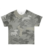 Camo Dachshund All-over T-Shirt front