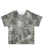 Camo Golden Retriever  All-over T-Shirt front