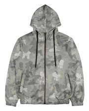 Camo Poodle Men's All Over Print Full Zip Hoodie thumbnail