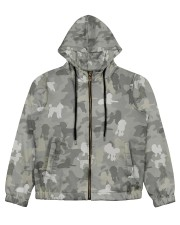 Camo Poodle Women's All Over Print Full Zip Hoodie thumbnail
