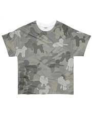 Camo Poodle All-over T-Shirt front
