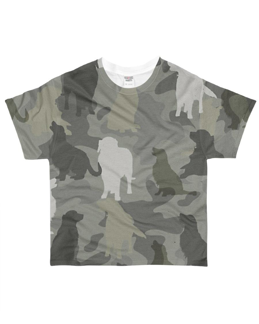 Golden Retriever - Camouflage All-over T-Shirt