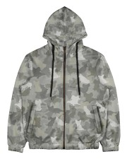 Camo Papillon Men's All Over Print Full Zip Hoodie thumbnail