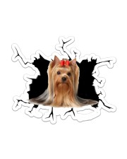 Yorkshire-terrier Sticker - Single (Vertical) front