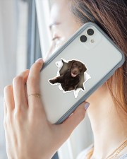 Labrador Retriever Chocolate Sticker - Single (Vertical) aos-sticker-single-vertical-lifestyle-front-29
