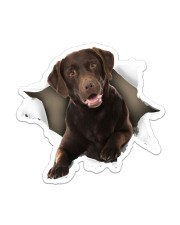 Labrador Retriever Chocolate Sticker - Single (Vertical) front