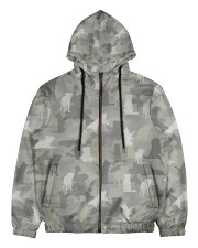 Camo Border Collie Men's All Over Print Full Zip Hoodie thumbnail