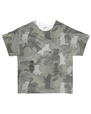 Camo Border Collie All-over T-Shirt front