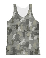 Camo Border Collie All-over Unisex Tank thumbnail