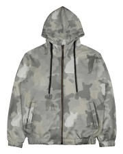 Camo French Bulldog Men's All Over Print Full Zip Hoodie thumbnail