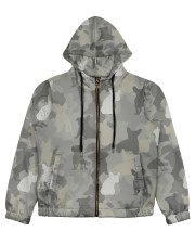 Camo French Bulldog Women's All Over Print Full Zip Hoodie thumbnail