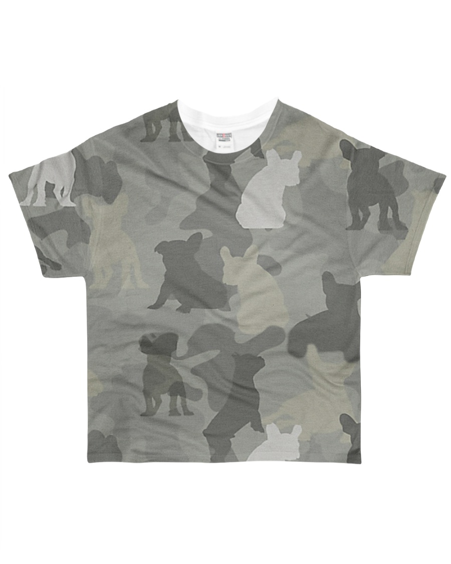 Camo French Bulldog All-over T-Shirt