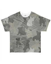 Camo French Bulldog All-over T-Shirt front