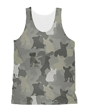 Camo French Bulldog All-over Unisex Tank thumbnail