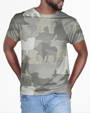 Camo Pug  All-over T-Shirt aos-all-over-T-shirt-lifestyle-front-04