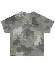 Camo Pug  All-over T-Shirt back