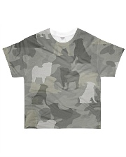 Camo Pug  All-over T-Shirt front