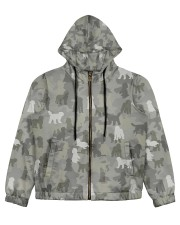Camo Goldendoodle Women's All Over Print Full Zip Hoodie thumbnail